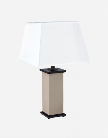 Leather Table Lamp - Made in Italy - Giobagnara