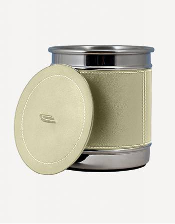 Raf Leather Bathroom Bin - Made in Italy - Giobagnara