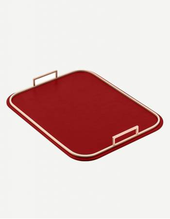 Bellini Leather Rectangular Tray - Made in Italy - Giobagnara