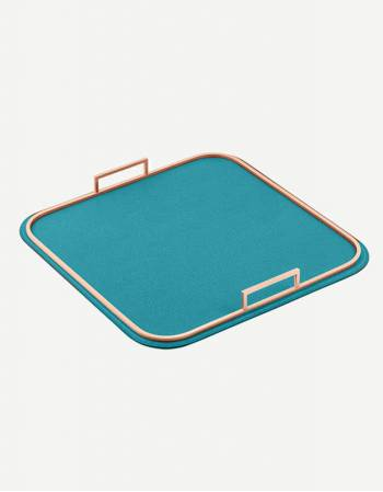 Bellini Leather Square Tray - Made in Italy - Giobagnara