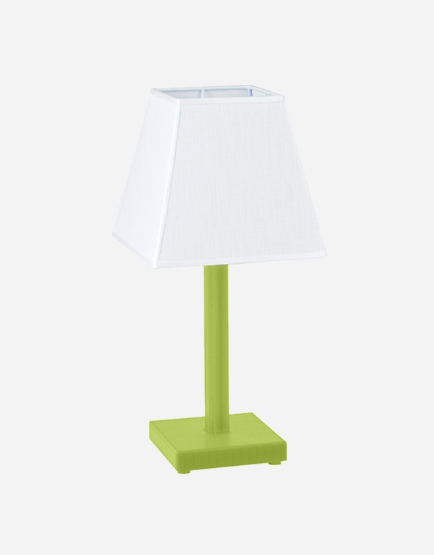 Leather Side Table Lamp - Made in Italy