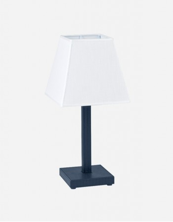 Leather Side Table Lamp - Made in Italy - Giobagnara