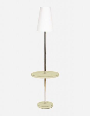 Tavolino con Lampada in Pelle - Prodotto in Italia - Giobagnara