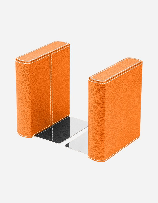 Leather Bookend - Wood Structure
