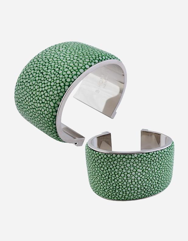 Shagreen Bracelet 4 cm - Made in Italy