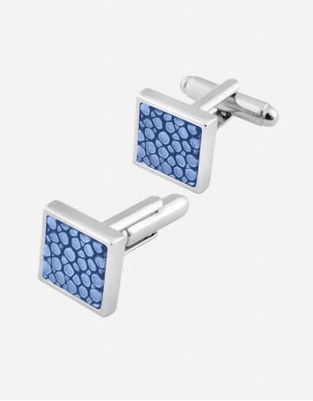 Shagreen Square Cufflinks - Made in Italy