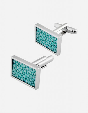 Shagreen Rectangular Cufflinks - Made in Italy