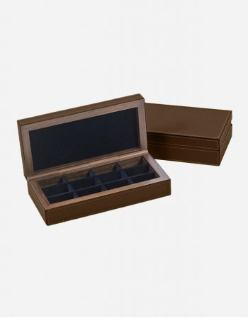 Leather Cuff-links Box - Made In Italy- Giobagnara