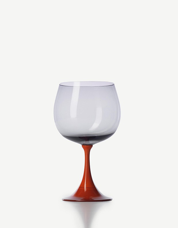 Burlesque Red Wine Glass - Made in Murano