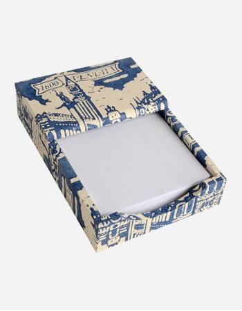 Memo Pad Holder – Hand-printed Paper