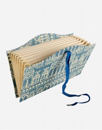 Portadocumenti a Soffietto - Carta Stampata a Mano
