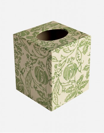 Square Tissue Box – Hand-printed Paper