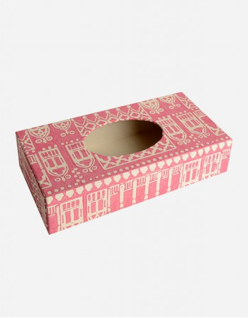 Kleenex Box Rectangular- Handprint Paper