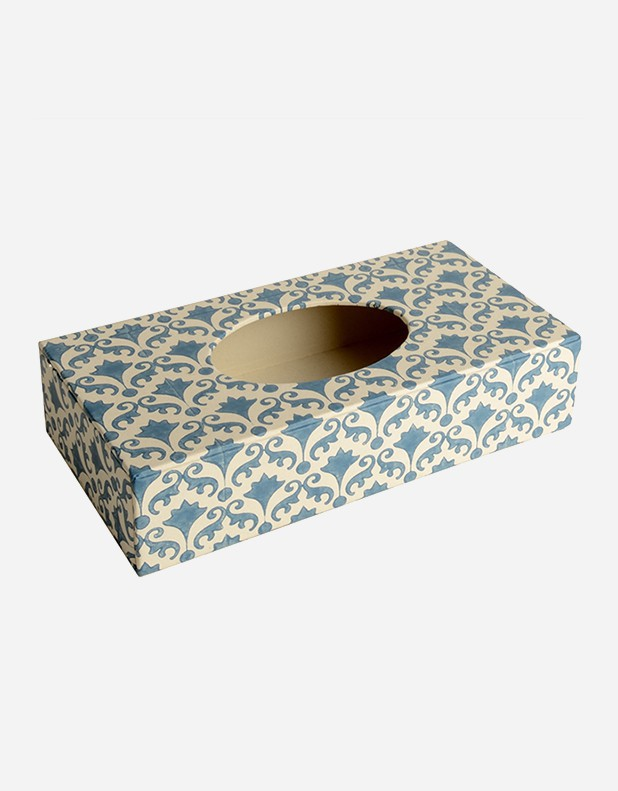 Kleenex Box Rectangular- Handprint Paper