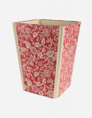 Foldable Waste Paper Bin – Hand-printed Paper
