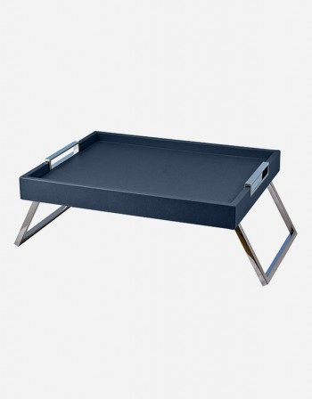 Leather Bed Tray with Folding Legs - Made in Italy - Giobagnara