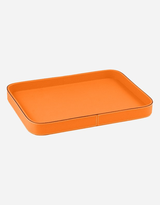 Leather Rectangular Tray - Made in Italy