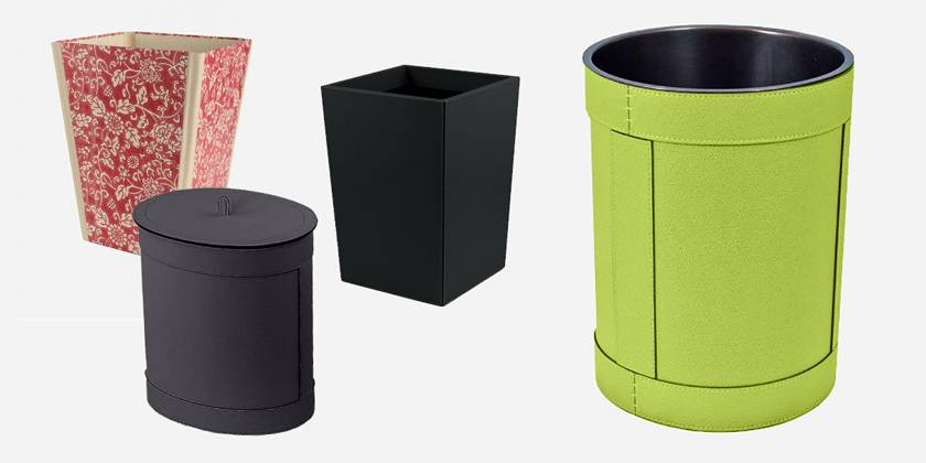 Waste paper bins for the office